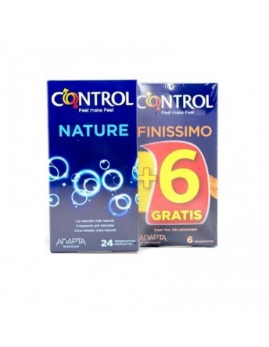 Control Preservativos Adapta Nature, 24Ud + REGALO Control Finissimo, 6Ud