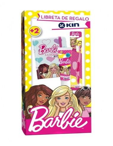 Kin Barbie pasta dentífrica, 50ml + cepillo dental + REGALO Libreta