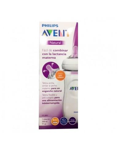 Philips Avent Biberón Natural 330ml Tetina 6m+, 1Ud