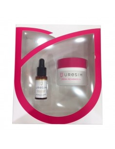 Pack Uresim Crema Hidratante Antiarrugas Reparadora, 50ml + Concentrado iluminador, 20 ml