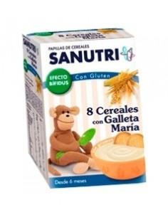 Sanutri Papilla 8 cereales con Galleta María, 600g