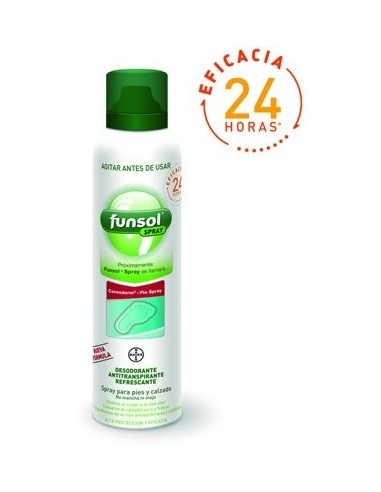 Bayer Funsol Spray Desodorante Pies, 150ml