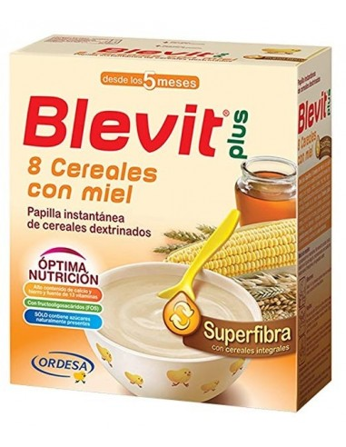 Ordesa Blevit Plus Superfibra 8 Cereales y Miel, 600g