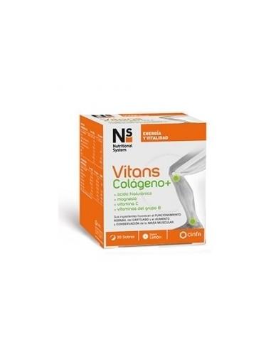 Cinfa Vitans Colágeno+, 30 sobres de sabor limón