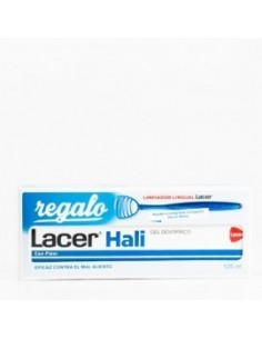 Lacer Hali Gel dentifrico , 125ml + REGALO Limpiador lingual