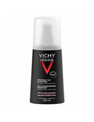 Vichy Desodorante Homme 24 h Ultra-Fresco, 100 ml