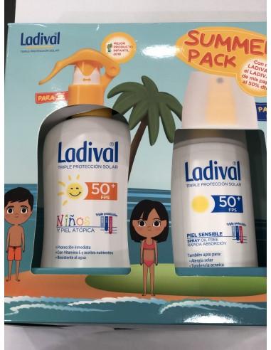 Ladival Niños Spray fotoprotector SPF 50 Pieles atópicas, 200ml + Regalo After Sun, 200ml