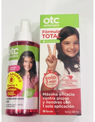 Comprar Pack Otc Antipiojos Spray 125 Ml Spray Desenredante Prot