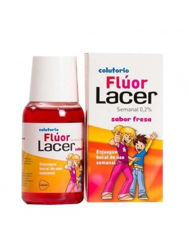 Lacer Colutorio Fluor Semanal Fresa, 100ml