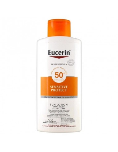 Eucerin Sun Locion Extra light SPF50+, 400ml + REGALO Locion Hidratante 200ml