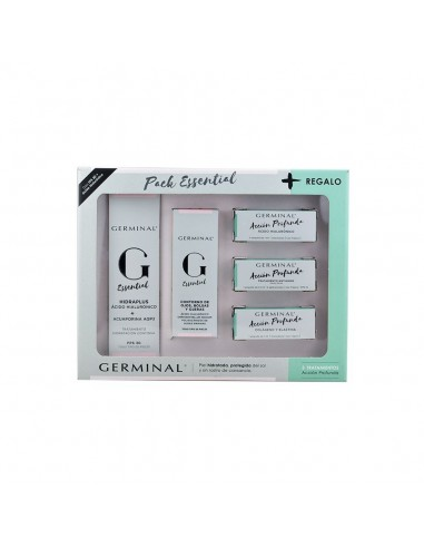 Germinal Pack Essential Hidraplus FPS30, 50 ml + Germinal Essential Contorno de Ojos,15 ml +Regalo 3 ampollas