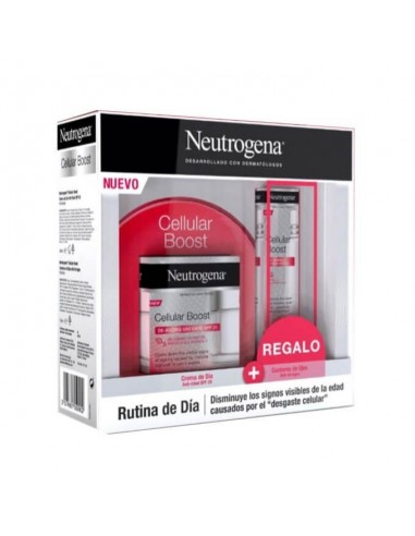 Neutrogena Pack Cellular Boost Crema de Día SPF20, 50 ml + Regalo Contorno de Ojos Cellular Boost, 15 ml