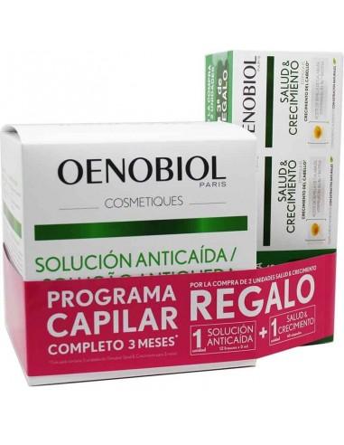 Pack Oenobiol Salud y Crecimiento,  3 x 60 cápsulas + Oenobiol Solución Anticaída, 12 frascos