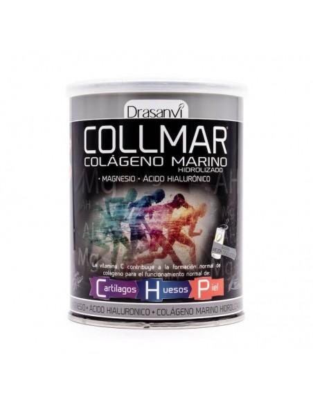 Collmar Colágeno Marino Hidrolizado +Vitamina C + Magnesio + Ácido Hialurónico, 300g