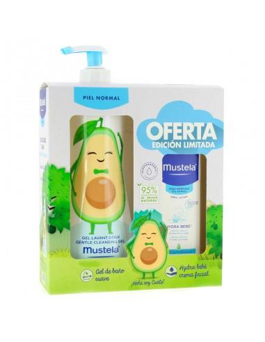 Mustela Gel de Baño Suave, 500 ml + Mustela Hydra Bebé Facial, 40 ml
