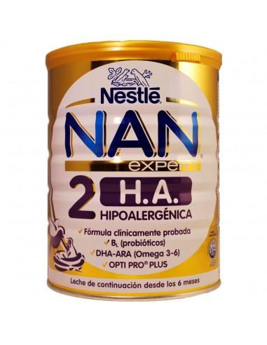 Nan 2 Expert H.A. Leche Continuación Hipoalergénica, 800g