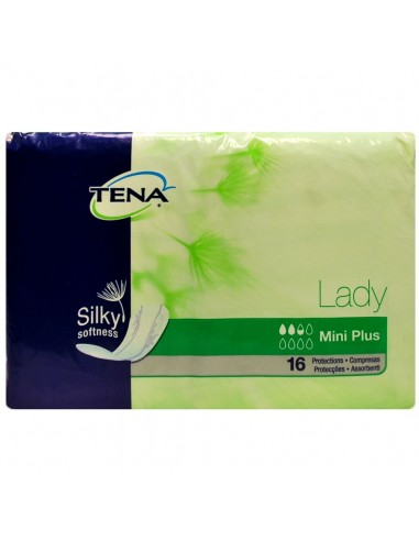 Tena Lady Discreet Mini Plus Compresas Incontinencia de Orina, 16 Uds