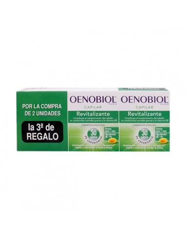 Oenobiol TRIPLO Capilar Revitalizante Anticaída, 3x 60Capsulas