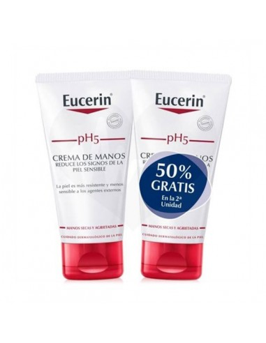 Duplo Eucerin pH5 Crema de Manos, 2x 75ml