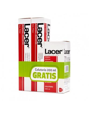 Pack Lacer Pasta Dental, 2x125ml + Regalo Colutorio, 200 ml