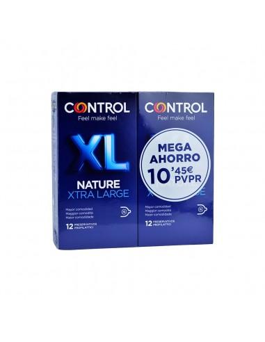 Control Preservativos Nature XL, 2x 12 unidades