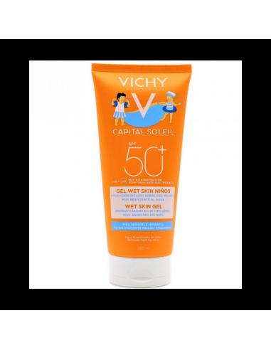 Vichy Capital Soleil Gel Wet Skin Niños SPF50, 200 ml