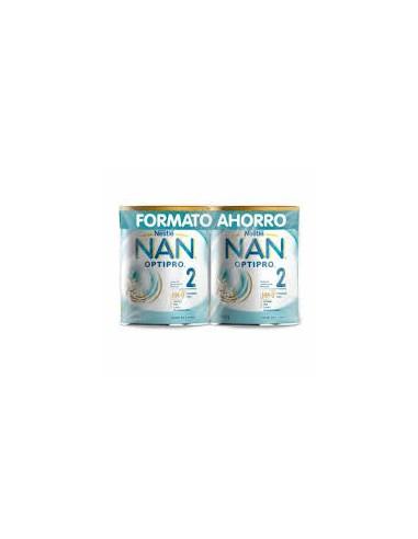 Nan 2 Optipro HM- 0 Leche de Continuación, 2x 800 g