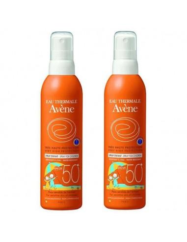 Avene Pack Solar Spray Niños SPF50+, 2 x 200 ml