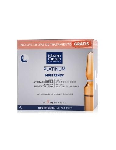 Martiderm Platinum Night Renew 2ml, 30 ampollas + 10 Días de Tratamiento Gratis