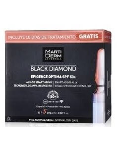 Martiderm Black Diamond Epigence Optima SPF50+, 30 Ampollas + 10 días de Tratamiento Gratis