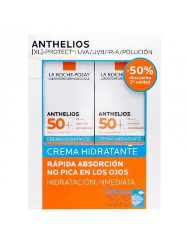 La Roche Posay Anthelios Crema Hidratante SPF50+, 2 X 50 ml