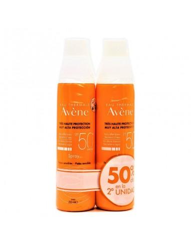 Avene Solar Pack Spray SPF50+, 2 x 200 ml