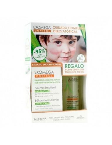 A-Derma Exomega Control Bálsamo Emoliente, 200 ml + Regalo Aceite Limpiador, 100 ml