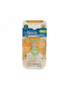 Dr. Brown´s Tetina Silicona Boca Ancha Options + Cereales, 2Ud