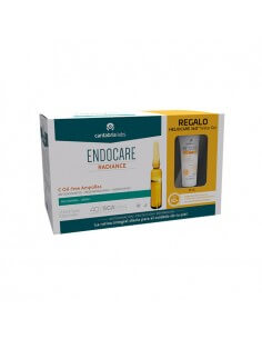 Endocare C Oilfree ampollas, 30 Ud x 2ml + Heliocare 360 º Water Gel SPF50+, 15ml