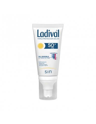Ladival Fotoprotector facial Piel Sensible Gel Grema Oil Free, 50 ml