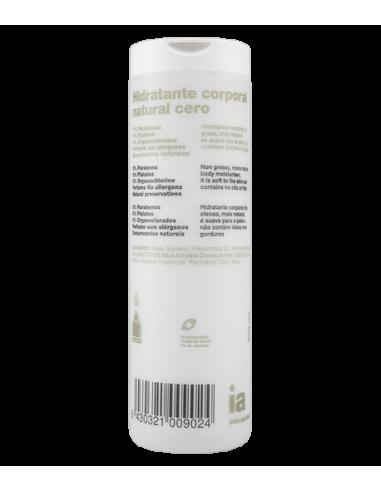 Interapothek Hidratante Corporal Natural Cero, 400ml