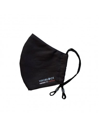 Mascarilla Higiénica Reutilizable Viroblock Color Negro Talla Mediana , 1 unidad