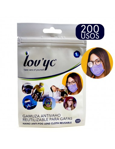 Lov´yc Gamuza Antivaho Reutilizable Para Gafas, 1 Unidad