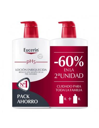 Eucerin Duplo pH5 Loción Corporal Enriquecida 2X 400ml