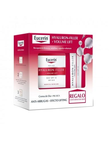Eucerin Hyaluron-Filler Volume Lift Crema Día Piel Seca 50ml+ Regalo Eucerin Hyaluron Volume Lift Contorno de Ojos 15 ml