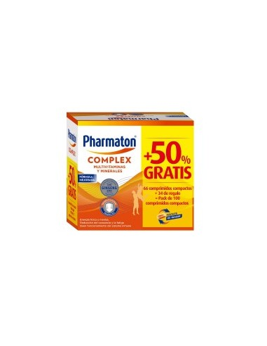 Pack Pharmaton Complex 66 Comprimidos + 34 de Regalo