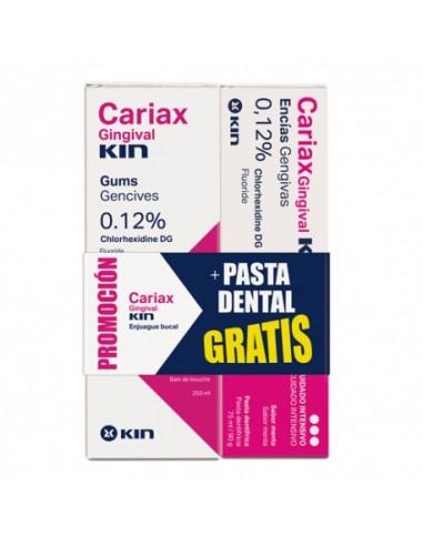 Kin Cariax Gingival Enjuague Bucal 250ml + REGALO Cariax Pasta 75 ml