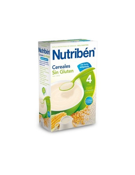 Nutribén Cereales Sin Gluten con Leche Adaptada, 300g