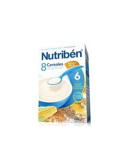 Nutribén 8 Cereales Galletas María, 600g