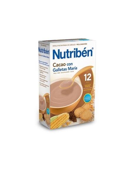 Nutribén Papilla Desayuno Cacao con Galletas María, 600g