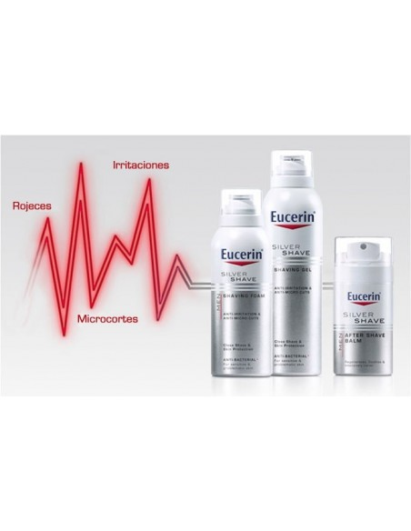 Eucerin Men Silver Shave Gel de Afeitar Piel Sensible, 150ml