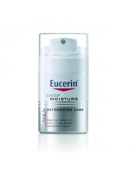 Eucerin Men Deep Moisture Crema Facial Hombre Hidratante Piel Sensible, 50ml