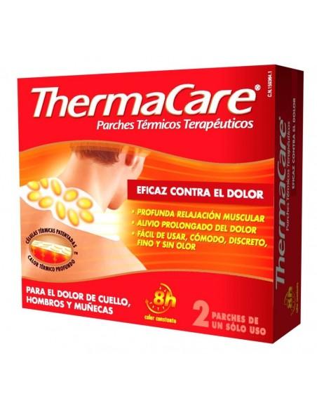 ThermaCare Parches Térmicos Terapéuticos Zona Cuello Hombros y Munecas, 2Ud
