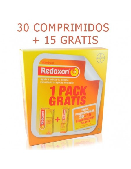 Bayer Redoxon Pack Vitamina C, 30 Comp + GRATIS 15 Comp